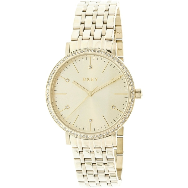Shop Dkny Women s Minetta Gold Stainless-Steel Japanese Quartz Fashion Watch  - Free Shipping Today - Overstock - 19385441 43efbdee568