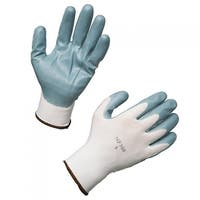 AMMEX C225 Nitrile Dipped Nylon Work Gloves (Bag of 12 pairs)