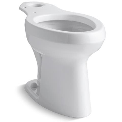 Kohler K-4304-SS Highline Elongated Chair Height Toilet Bowl Only with - White