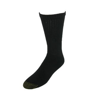Gold Toe Men's Cotton Cushioned Crew Socks (Pack of 6), Shoe Size 6 - 12 1/2 - One size