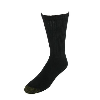 Gold Toe Men's Cotton Cushioned Crew Socks (Pack of 6), Shoe Size 6 - 12 1/2