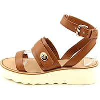 Coach Womens Platt Leather Open Toe Casual Platform Sandals