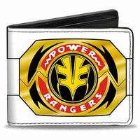 Power Rangers White Ranger Tigerzord + Green Ranger Dragonzord Morphers Bi Bi-Fold Wallet - One Size Fits most