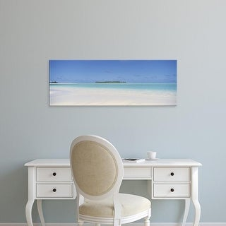Easy Art Prints Panoramic Images's 'Beach, Cook Islands' Premium Canvas Art