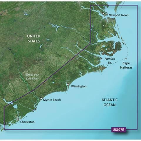 Garmin 010-C0708-00 Bluechart g2 vision VUS007R, Norfolk-Charleston (SD Card) - Blue