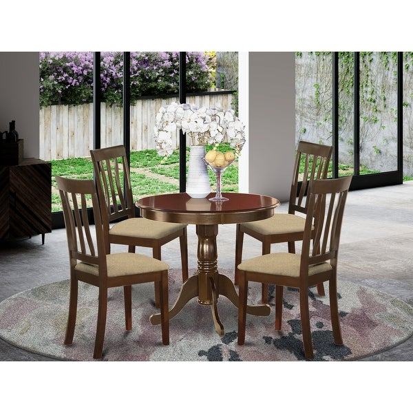 5 Pc small Kitchen Table set-breakfast nook plus 4 Dining Chairs (Finish Option). Opens flyout.