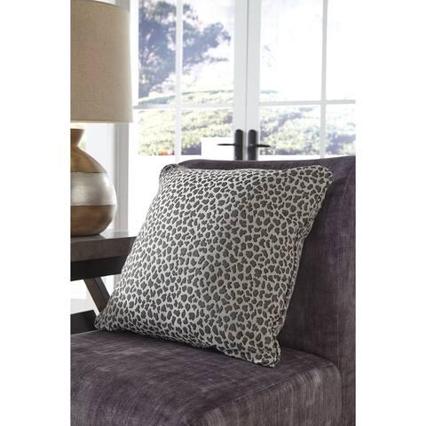 Piercy Grey Cheetah Print Indoor/Outdoor Throw Pillow