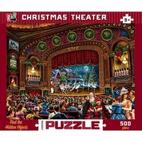 Christmas Theater 500 Piece Puzzle, Christmas Puzzles by Go Games