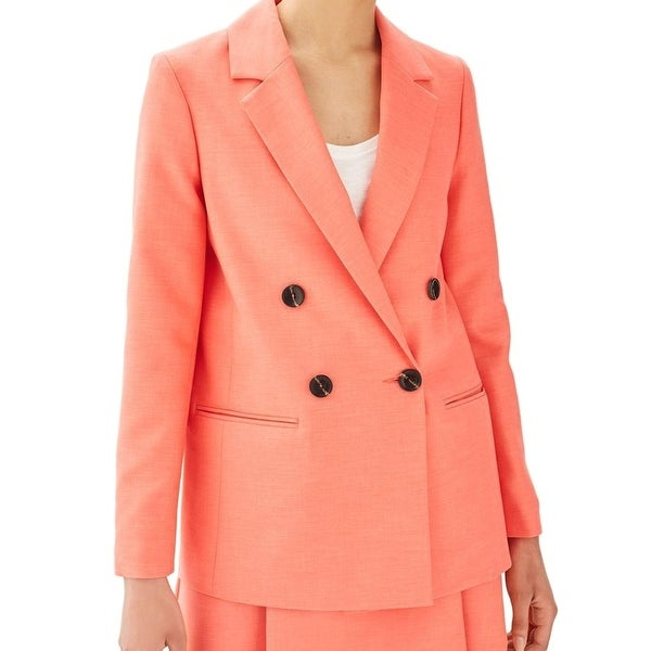e5363331b7847 Shop Topshop Womens Double Breasted Ella Notched Blazer - On Sale - Free  Shipping On Orders Over  45 - Overstock - 26983007