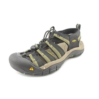 Keen Newport H2 Men Round Toe Canvas Black Fisherman Sandal