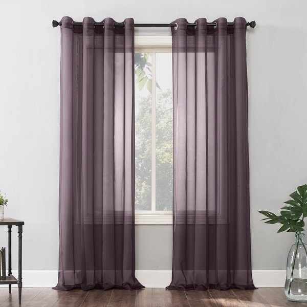 No. 918 Emily Voile Sheer Grommet Curtain Panel, Single Panel. Opens flyout.