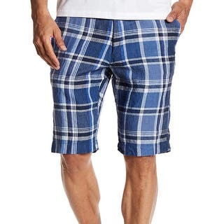 Toscano NEW Harbour Blue Mens Size 34 Plaid Flat Front Linen Shorts|https://ak1.ostkcdn.com/images/products/is/images/direct/6323079e2f810c08b64c3b8dfa72a017d2a33040/Toscano-NEW-Harbour-Blue-Mens-Size-34-Plaid-Flat-Front-Linen-Shorts.jpg?impolicy=medium