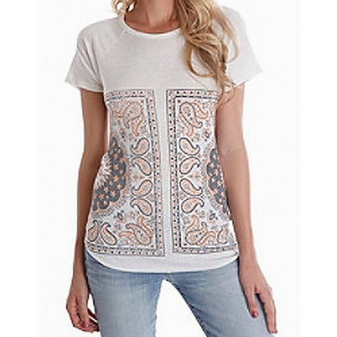 Lucky Brand White Ivory Womens Size Medium M Graphic Tee T-Shirt