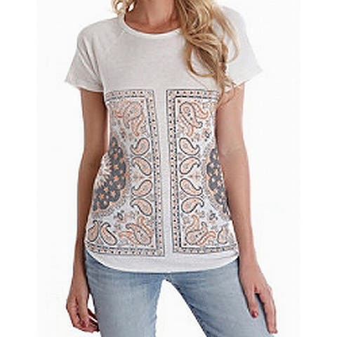 5b9e4808044 Lucky Brand White Ivory Womens Size Medium M Graphic Tee T-Shirt