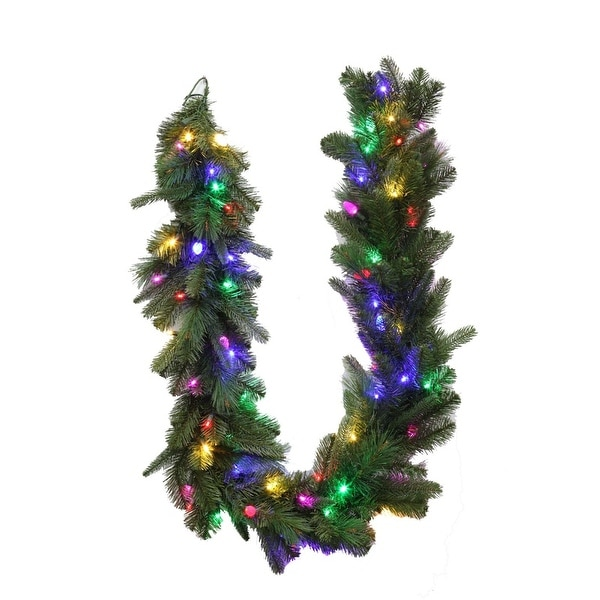 celebrations 4806024 cc649ac prelit green led christmas garland 6 multi