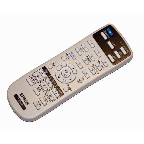 OEM Epson Projector Remote Control Shipped With PowerLite 965H, X27, W29, S27