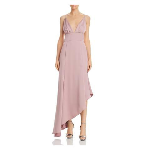 KEEPSAKE Pink Spaghetti Strap Knee Length Dress XS