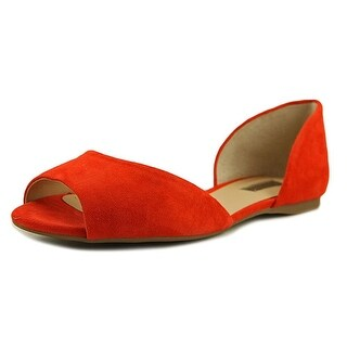 INC International Concepts Womens Elsah Leather Open Toe Slide Flats