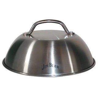 "Jim Beam Heavy Duty Construction Stainless Steel 9"" Burger Cover and Cheese Melting Dome"