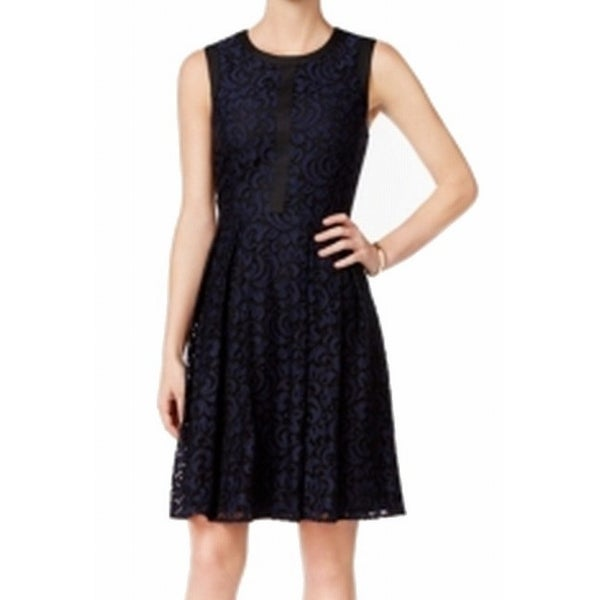 2c10778e5f4c3 Shop Tommy Hilfiger Navy Blue Women s Size 8 Colorblock Pleated Dress - On  Sale - Free Shipping On Orders Over  45 - Overstock - 26923926