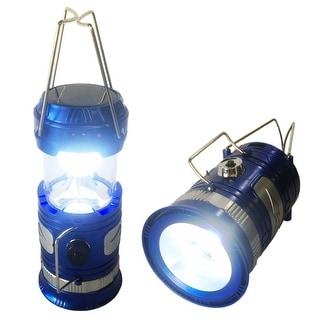 Solar Powered Camping Lantern, Solar LED Camp Light & Handheld Flashlight, Black
