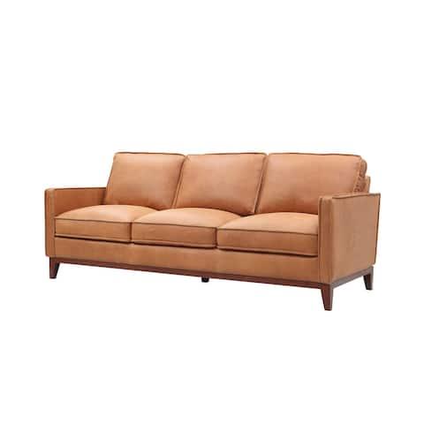Divani Casa Naylor Modern Brown Italian Leather Split Sofa