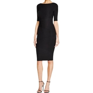 Bailey 44 Womens Labyrinth Cocktail Dress Tiered Ribbed