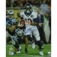 Emmanuel Sanders Autographed Denver Broncos 16x20 Photo wPanthers JSA