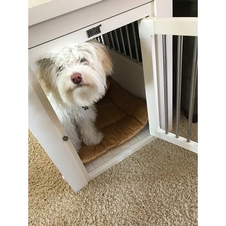 Ecoflex Dog Crate End Table With Stainless Steel Spindles