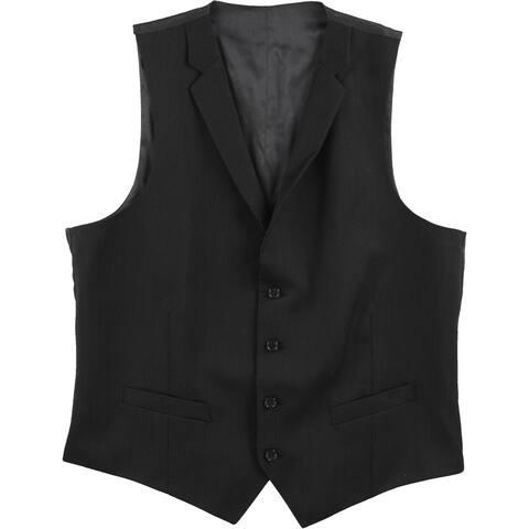Alfani Mens Mini Stripe Four Button Vest - 42 Regular