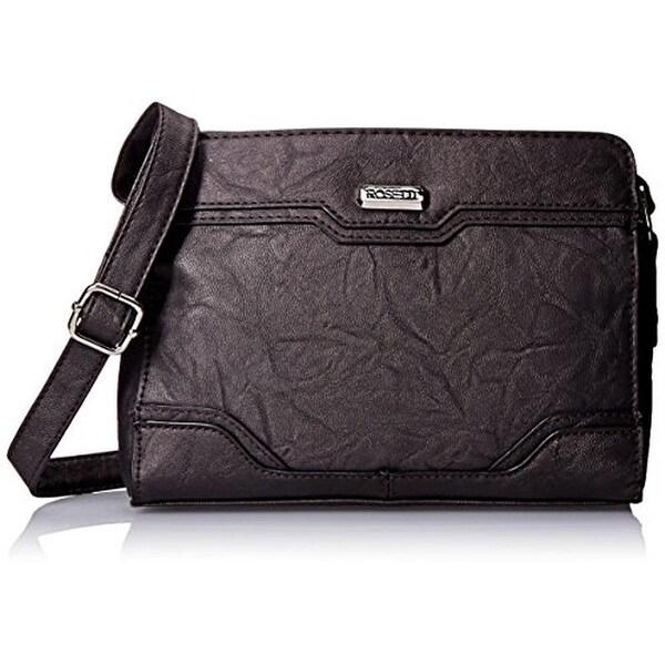 Rosetti Womens Hilary Crossbody Handbag Faux Leather Textured - MEDIUM