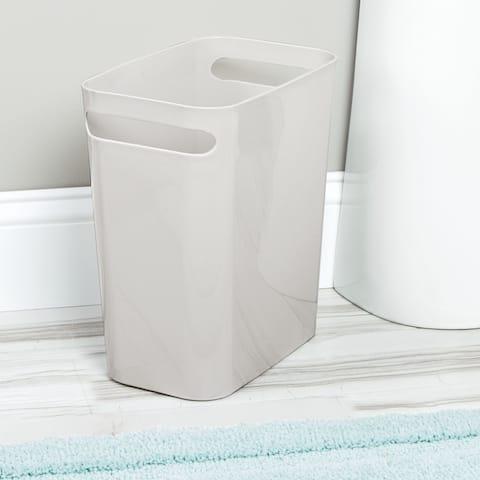 "mDesign Slim Plastic Trash Can Garbage Wastebasket, 12"" High - 2 Pack - 11 X 6.5"