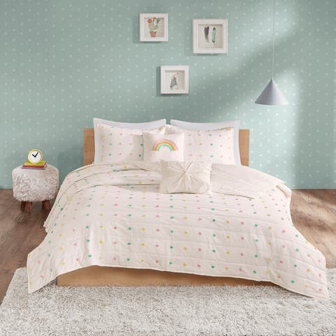 Ensley Cotton Jacquard Pom Pom Coverlet Set by Urban Habitat Kids