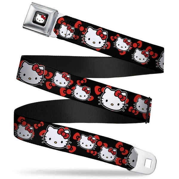 Hello Kitty W Red Bow Full Color Black Hello Kitty Multi Face W Bows Black Seatbelt Belt