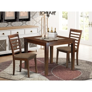 Link to 3 Piece Dinette Set with Dining Room Table and Two Dining Chairs in Mahogany Finish Similar Items in Dining Room & Bar Furniture