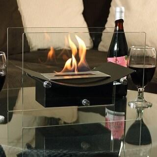 Sunnydaze Black Zen Ventless Tabletop Fireplace Bio Ethanol Modern with Fuel