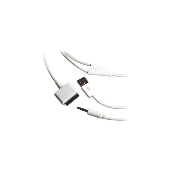 4XEM 4X30PINUSB35 4XEM 30-Pin To 3.5mm Mini Jack Plus USB Charging For iPhone/iPod/iPad - USB/Proprietary/Mini-phone for Audio