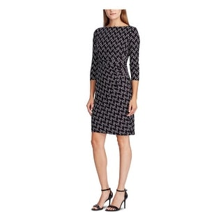 Link to RALPH LAUREN Black 3/4 Sleeve Above The Knee Sheath Dress  Size 16 Similar Items in Dresses