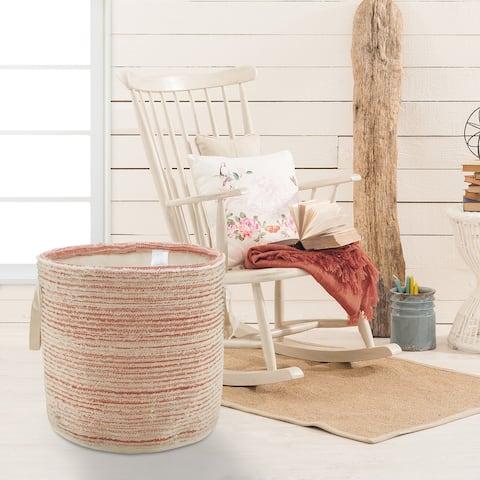 "Textured and Distressed Storage Basket - 19"" x 19"" x 19"""