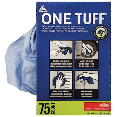Trimaco 84075 One Tuff Wiping Rags, 75 Count