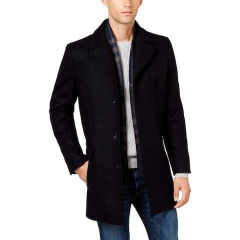 Kenneth Cole New York Mens Pea Coat Wool Overcoat - Navy - XXL