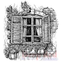 """Deep Red Cling Stamp 3""""X3""""-Window Planter"""