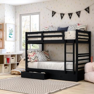 Link to Furniture of America Naur Transitional Twin/Twin 2-piece Bunk Bed Set Similar Items in Kids' & Toddler Beds