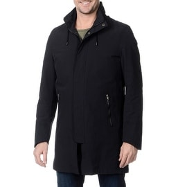 Nautica Men's Hooded Navy Raincoat