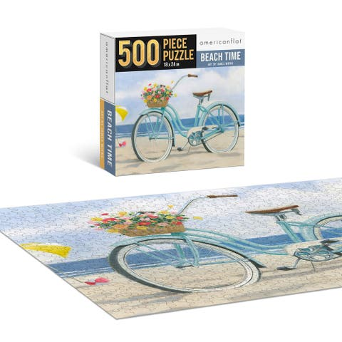 "Americanflat 500 Piece Jigsaw Puzzle 18""x24"" - Beach Time by James Wiens - 18x24"