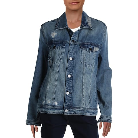 [BLANKNYC] Womens Denim Jacket Oversized Destroyed - Punch Line - M