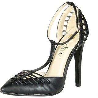 Machi Womens Finder-2 High Heel Sandal Ankle T-Strap Pointy Toe Prom Party Pumps Shoes