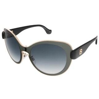 Balenciaga BA0002S 01B Grey/Black Round sunglasses