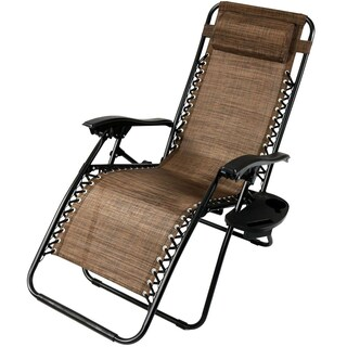 Sunnydaze Zero Gravity Lounge Chair with Pillow and Cup Holder, Multiple Colors Available (More options available)