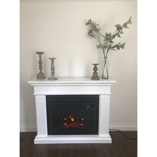 Real Flame Kennedy Grand Electric Fireplace White Free